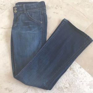 Hudson medium wash boot cut jeans